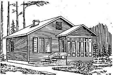 Perspective Drawing of a Typical Building