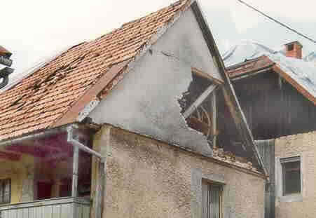 Out-of-plane gable collapse