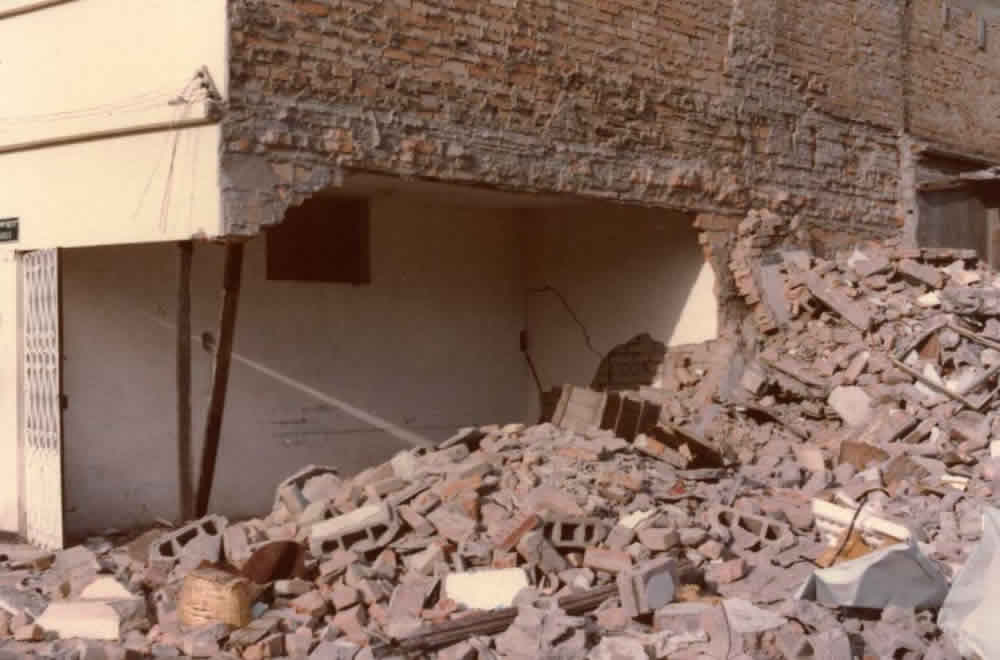 Typical Earthquake Damage: Partial Collapse