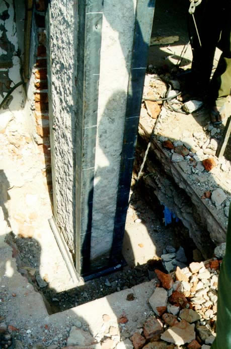 Seismic Strengthening of Columns by Jacketing from Top of Footing - Correct Technique (2001 Bhuj Earthquake)