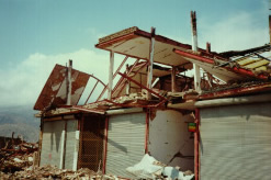 Building damage in the 1990 Manjil earthquake-collapse caused by the connection failure
