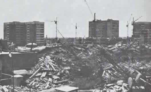 Earthquake Damage - Large Panel Buildings Remained Undamaged in the 1988 Spitak (Armenia) Earthquake (Source: EERI Armenia Earthquake Reconnaissance Report)