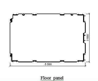 Critical structural details - typical floor panel construction