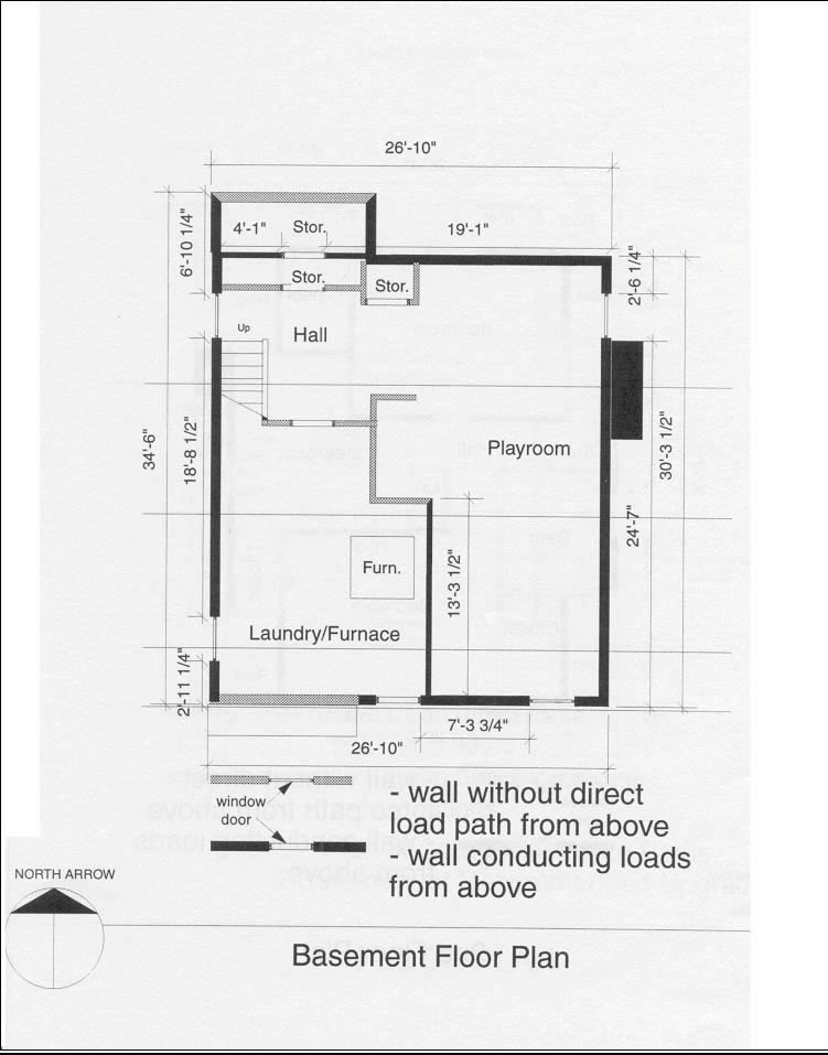 Typical basement floor plan (Source: CMHC)