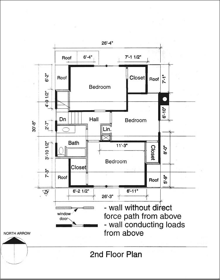 Typical second floor plan (Source: CMHC)
