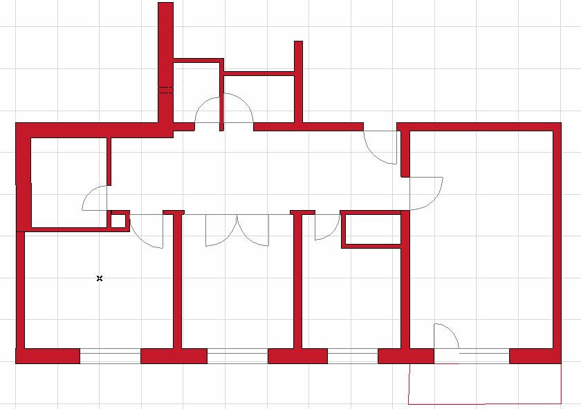 Plan of an apartment