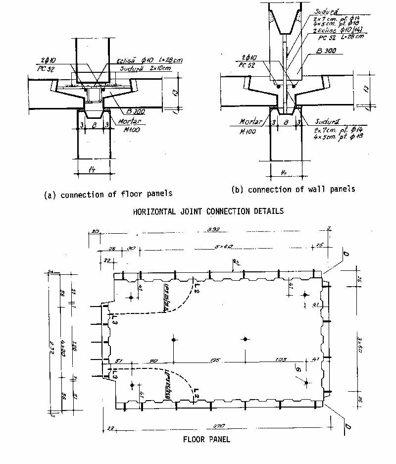 Floor panel and horizontal joint details(NBS 1977)