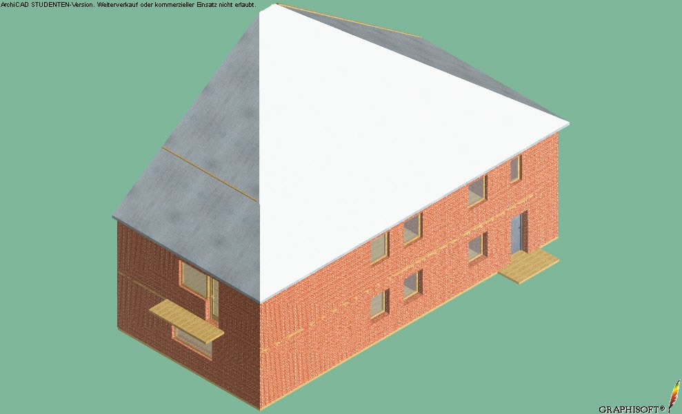 Axonometric view of the facade