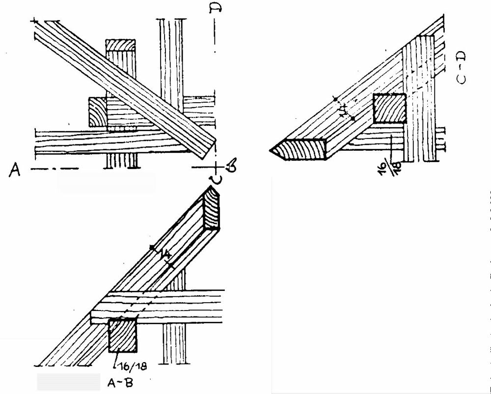 "Roof connection details (sourceunknown, addendum to ""Constructions"" course, inGerman)"