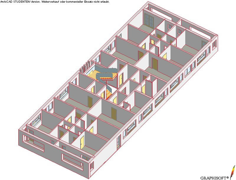 Axonometric view of current floor