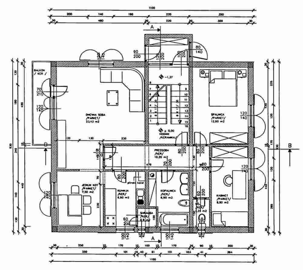Plan of a Typical House