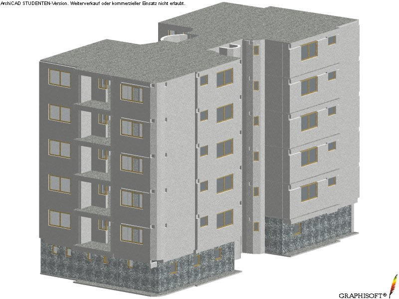 Axonometric view of the whole building