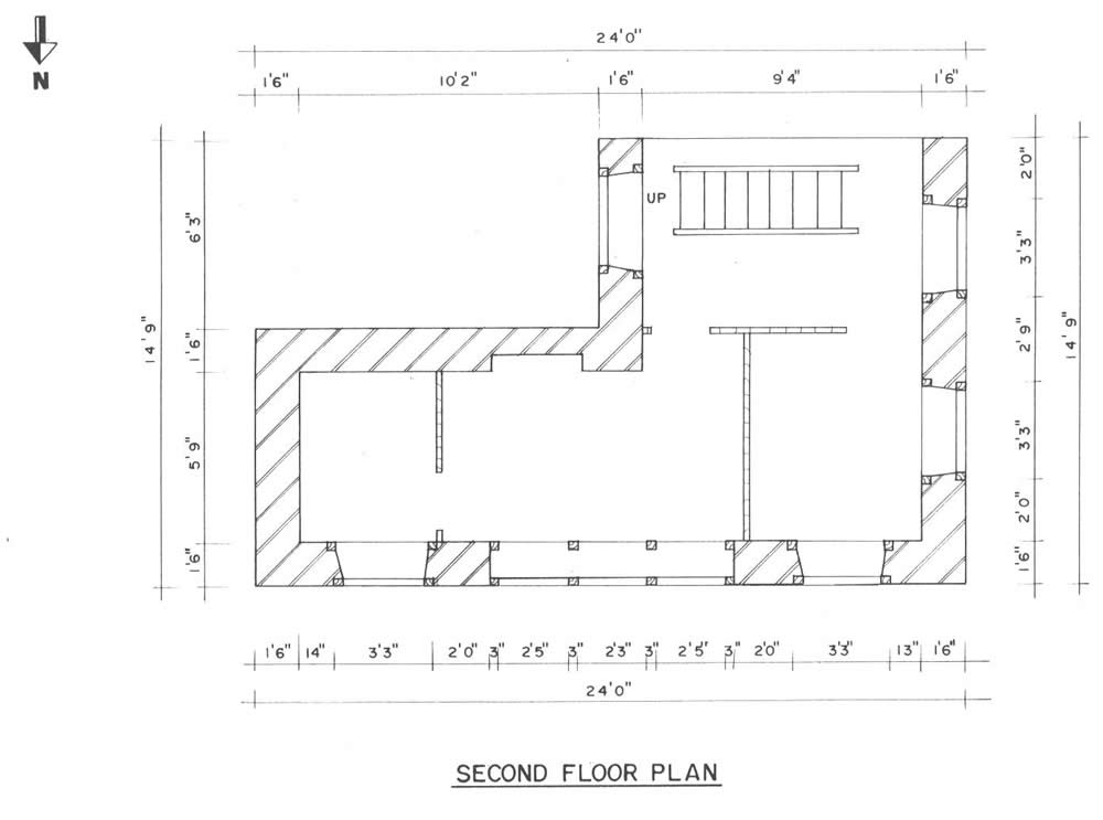 Second floor layout with large window