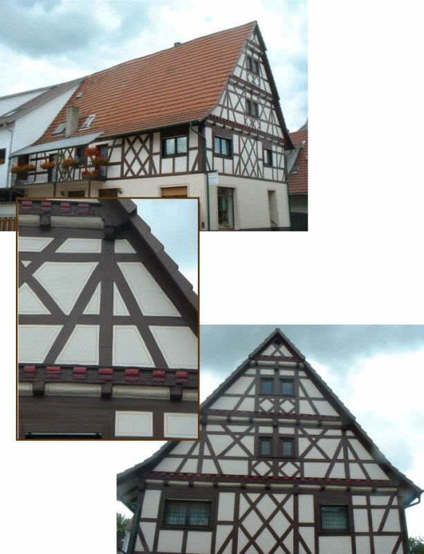 Typical new building in SouthernGermany: perspective view , view of the gable anddetail (photo by M. Kauffmann)