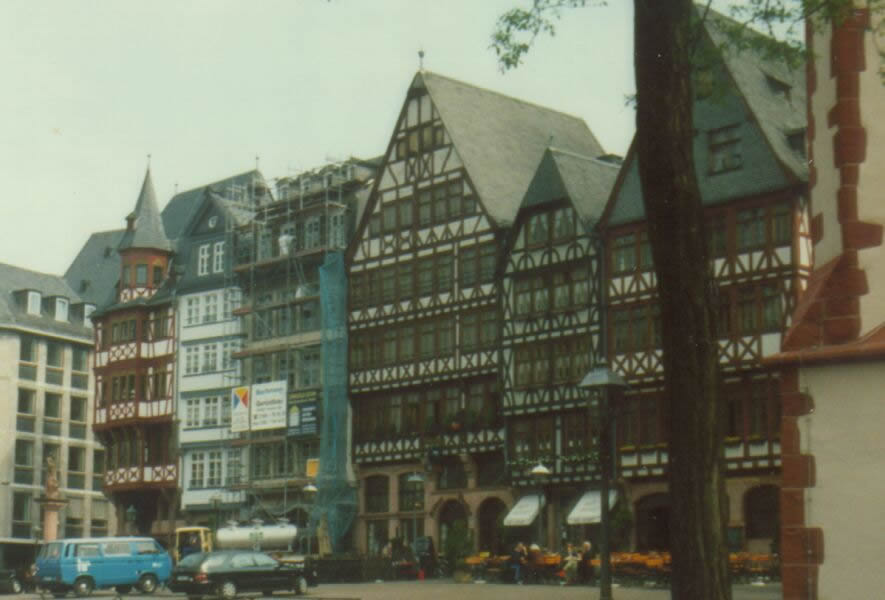Half timbered houses in central Germany