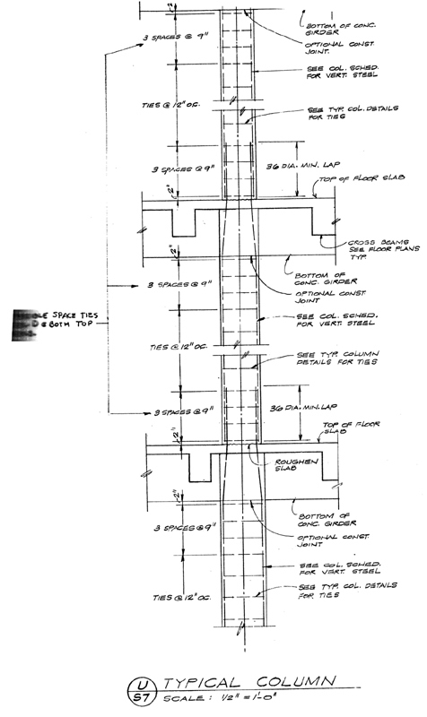 Typical Column Detail Elevation
