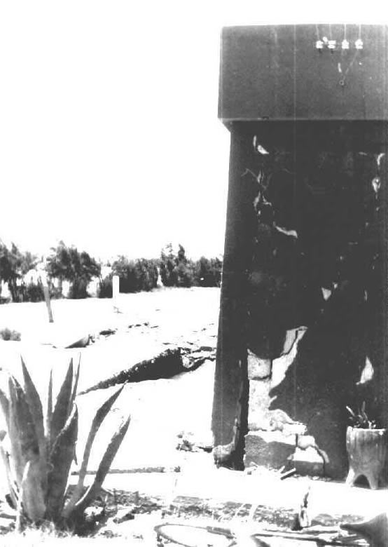 Photograph illustrating typical earthquake damage