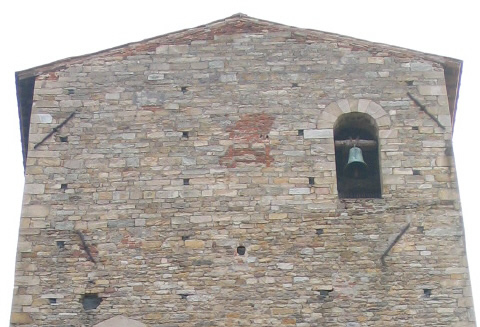 "Tower of ""S. Pietro in Vicoli"" (11th-12th century); subsequently it was converted into a bell tower."