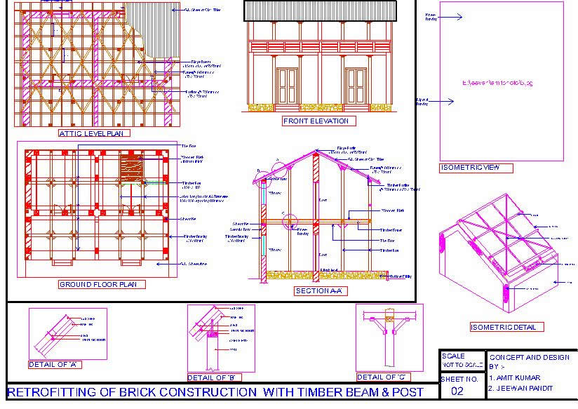 Retrofitting Details of Brick House
