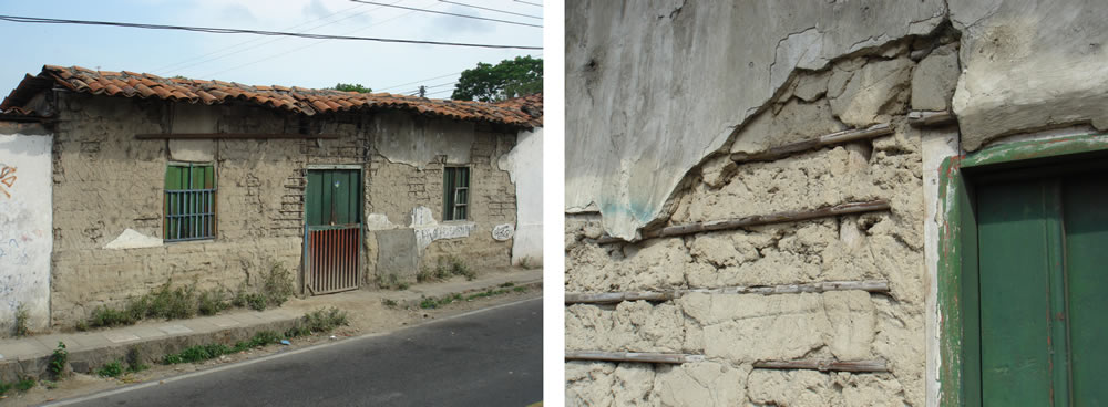 Low adherence of plaster due to weathering effects and missing connection to the wall materials