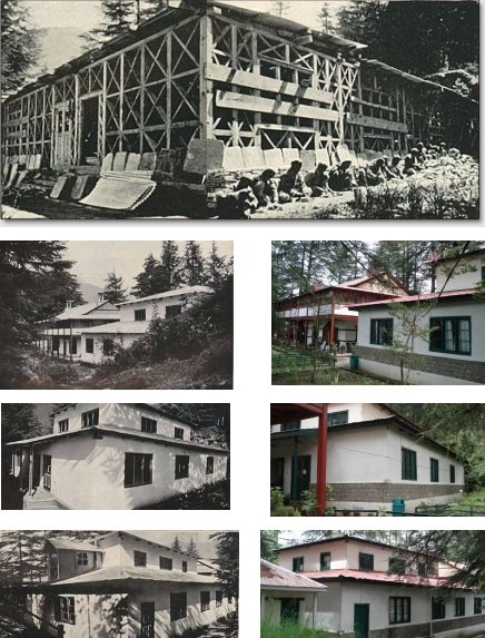 Examples from Northern India [Headquarters and Medical Research Laboratories at Naggar, Kulu, Punjab, India from article written around 1930s (See Reference 26)], Colour Photos taken in August 2009 (See Ref. 27).