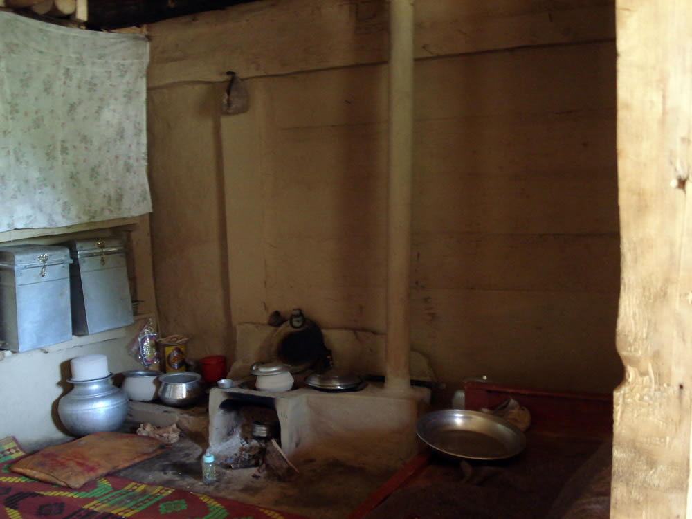 Kitchen inside a rural home in Pakistan administered Kashmir.
