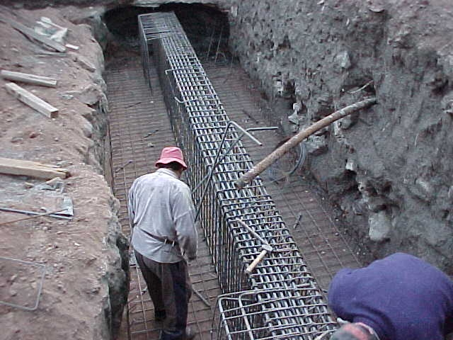 Construction of Reinforcement of Footings of BSIBuilding (B1x and B2X)