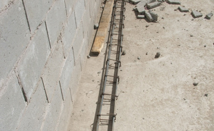 Rebar cage for RC ring beam