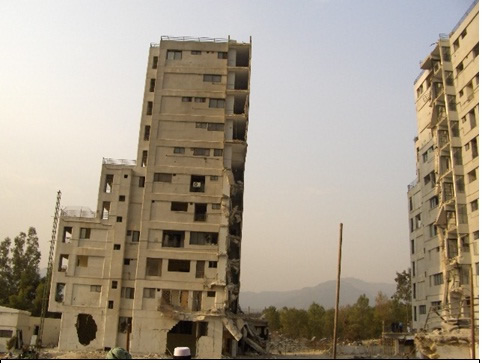 Global instability of a reinforced-concrete building during Kashmir 2005 earthquake.