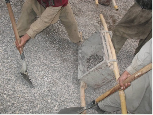 Manual batching of concrete may result in mix proportions different than the specified proportions.