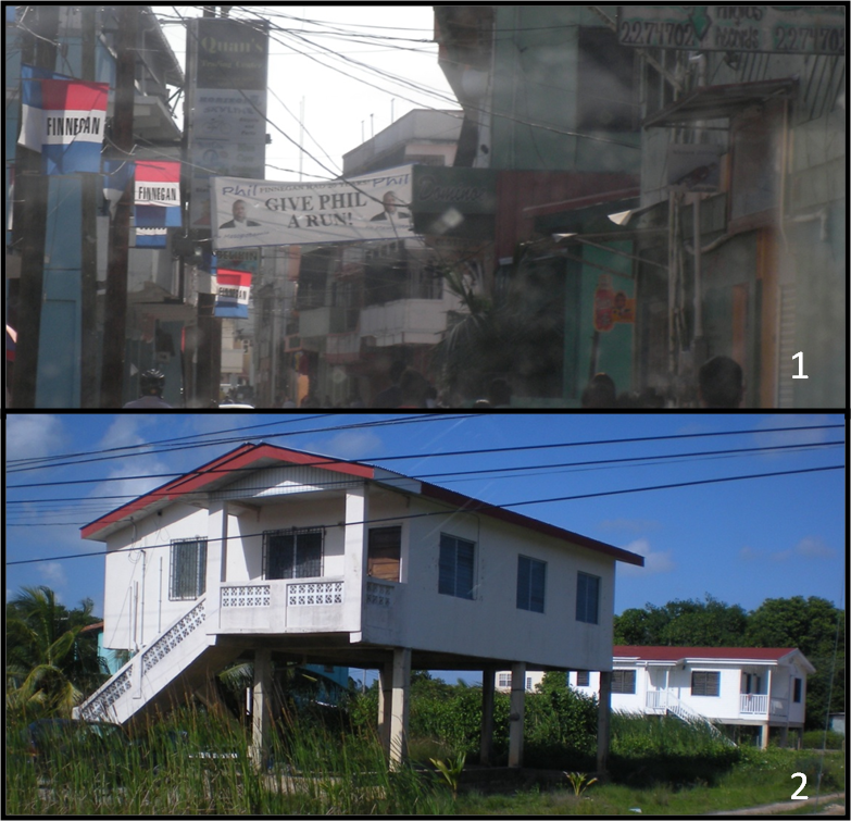 Typical spacing between residences in (1) urban areas,  (2) rural areas.