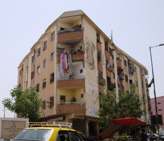 G+4 RC apartment building in Karachi - irregularly  shaped floor plans.