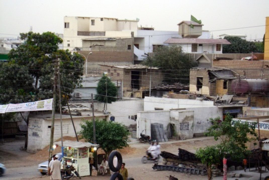 Incremental modification of houses within a low income  settlement - Gulshan Town, Karachi.