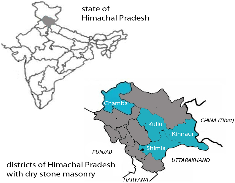 Districts in Himachal Pradesh where this typology can be  found.