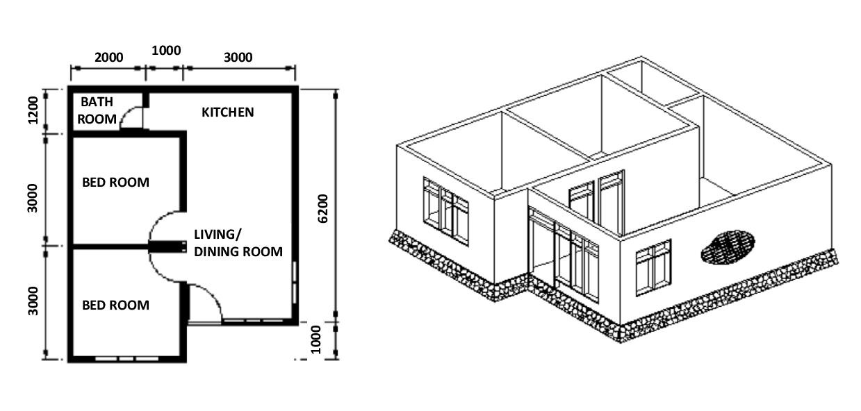 Plan of a Typical Building